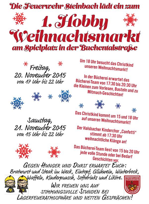 Plakat Hobby-Weihnachtsmarkt